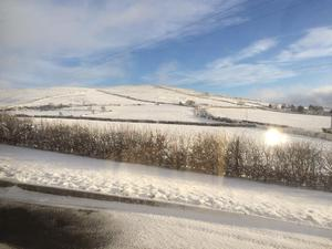 A beautiful snowy landscape in Strabane. Pic. John Blair 13/01/2015