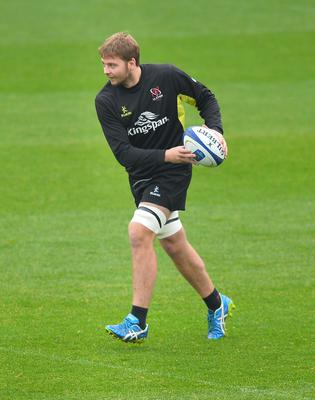 PACEMAKER PRESS 21/10/2016  Ulster's Iain Henderson  during the Captains run ahead of Ulster's European Rugby Champions Cup game against Exeter Chiefs at the Kingspan Stadium in Belfast on Saturday evening. Pic Colm Lenaghan/Pacemaker