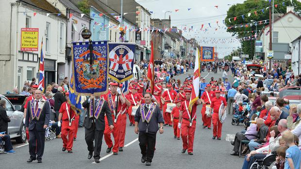 Thousands of Orange Order members are taking part in parades across Northern Ireland. The parades mark the 325th anniversary of King William III's victory at the Battle of the Boyne in 1690.  Twelfth celebrations in Saintfield.
