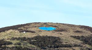 A blue heart was placed on Cavehill in memory of Noah Donohoe. Photo: Pacemaker