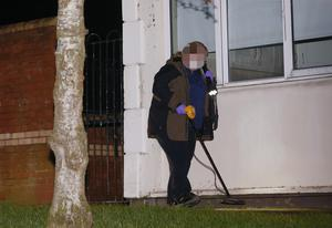 Forensic officers examine the scene. Picture - Kevin Scott / Presseye