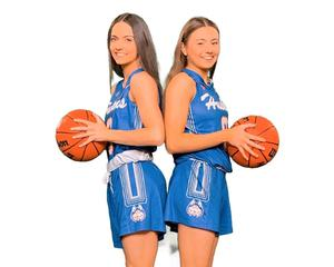Anna (right) and Enya Maguire will be team-mates in America next season.