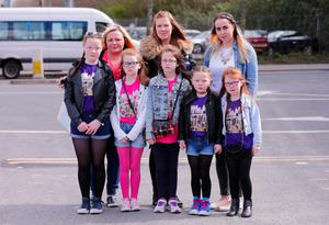 Disappointed Little Mix fans at the SSE arena   Emma, Erin, Clodagh , Leann, Jamie, Rhiannin , Megan and Fiona  Picture - Kevin Scott / Belfast Telegraph