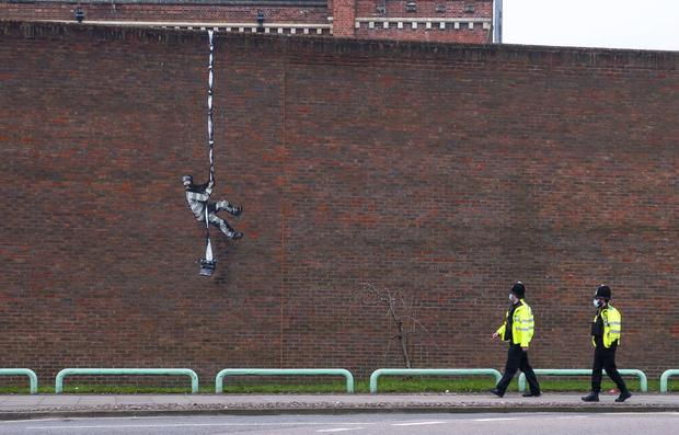 The artwork appeared on March 1 (Banksy/PA)