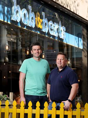 Pictured outside the new store are Bob & Berts owners David Ferguson (left) and Colin McClean (right).