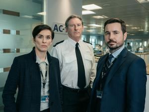 Line of Duty - Series 5...Programme Name: Line of Duty - Series 5 - TX: n/a - Episode: Line of Duty S5 - Early Release (No. n/a) - Picture Shows:  Kate (VICKY MCCLURE), Hastings (ADRIAN DUNBAR), Steve (MARTIN COMPSTON) - (C) World Productions - Photographer: Aiden Monaghan...hig