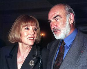 With Sean Connery at the Evening Standard Drama Awards in 1996 (PA)