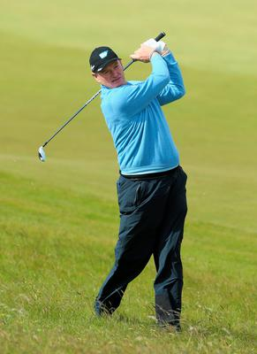 NEWCASTLE, NORTHERN IRELAND - MAY 29:  Ernie Els of South Africa hits an approach during the Second Round of the Dubai Duty Free Irish Open Hosted by the Rory Foundation at Royal County Down Golf Club on May 29, 2015 in Newcastle, Northern Ireland.  (Photo by Andrew Redington/Getty Images)