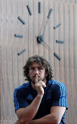 Italy's flanker Mauro Bergamasco poses after a press conference at hotel the team is taying at in Guildford on September 15, 2015, ahead of the 2015 Rugby Union World Cup. The 2015 Rugby World Cup starts on September 18.  AFP PHOTO / FRANCK FIFEFRANCK FIFE/AFP/Getty Images