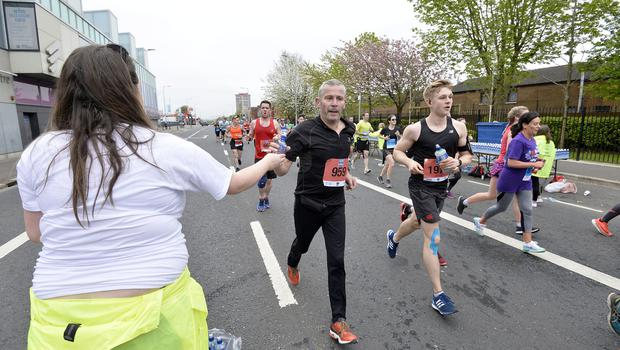 7th May 2018 37th Deep RiverRock Belfast City Marathon  Frank Brown  pictured at the marathon  Mandatory Credit ©Presseye/Stephen Hamilton