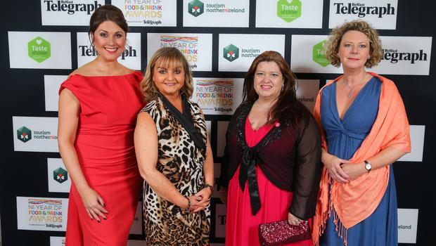 Press Eye - Belfast - Northern Ireland - 2nd February 2017 -    NI Year of Food & Drink Awards at the Culloden Hotel.  Sarah Travers, Susie Brown, Naomi Waite and Carolyn Boyd pictured at the NI Year of Food & Drink Awards at the Culloden Hotel.  Photo by Kelvin Boyes / Press Eye.