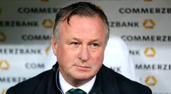 Outgoing Northern Ireland manager Michael O'Neill