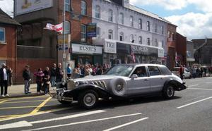 Car at UVF Parade in East Belfast 20/04/13