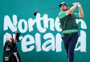 Shane Lowry warms up for the Irish Open at Galgorm Castle.