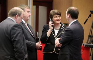 Press Eye - Belfast - Northern Ireland - 17th December 2015  New Leader of the DUP Arlene Foster pictured at a Belfast Hotel where she was chosen as party leader of the DUP.   Picture by Kelvin Boyes  / Press Eye.