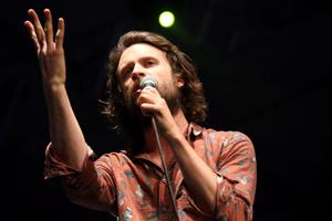 INDIO, CA - APRIL 14:  Musician J Tillman of Father John Misty performs onstage during day 3 of the 2013 Coachella Valley Music & Arts Festival at the Empire Polo Club on April 14, 2013 in Indio, California.  (Photo by Karl Walter/Getty Images for Coachella)