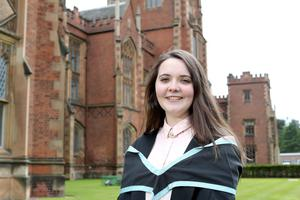 Queen's student Sinead Loughran, originally from New York and now living in Pomeroy, is graduating in Law. Sinead is currently enjoying her place on the Clinton Summer School at Queen's Riddel Hall.