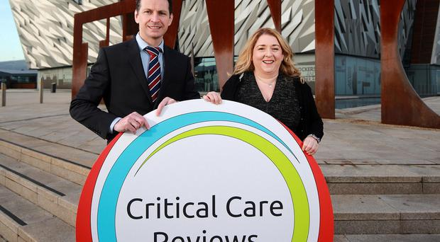 Clinician Dr Rob Mac Sweeney and Dr Catriona Kelly at the launch