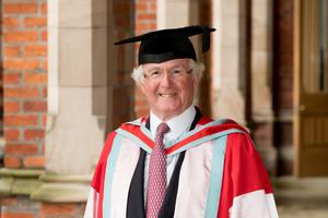 Joe Sloan, co-founder of the SHS Group, received his honorary degree from Queen's University Belfast for distinction to business and commerce.
