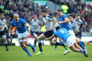Running man: Scotland ace Tommy Seymour in action against Italy