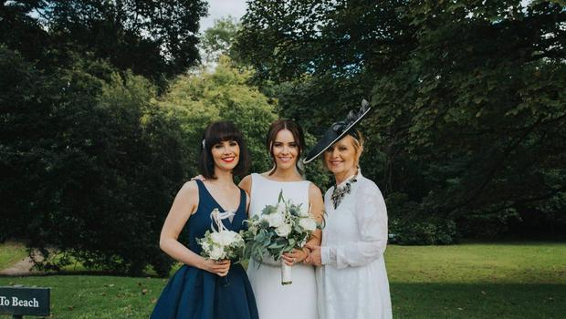 Aine Carlin, sister Mairead and mum Marie