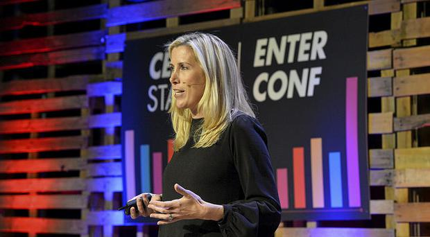 Meagan Eisenberg of mongoDB during day one of EnterConf. Pic Mark Marlow