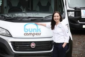 Leanne Cromie marketing manager with Bunk Campers.  Photo by Peter Morrison