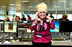 The actress on the trading floor during the BGC Partners Charity Day in London (Ian West/PA)