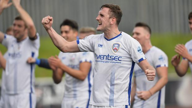 Coleraine's Stephen O'Donnell. Photo Mark Marlow/Pacemaker Press