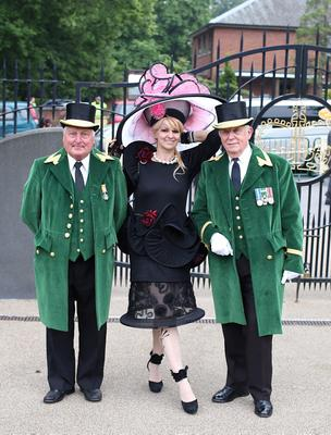 Racegoer Theres Ropposch-Greimel (centre) during Ladies' Day of the Royal Ascot meeting at Ascot Racecourse, Berkshire. PRESS ASSOCIATION Photo. Picture date: Thursday June 20, 2013. See PA story RACING Ascot. Photo credit should read: Steve Parsons/PA Wire