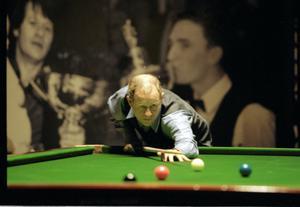 Alex Higgins.  Snooker Legend.  Exhibition match at Waterfront.  (19/06/1997)