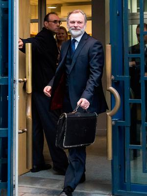 Britain's ambassador to the EU Tim Barrow leaves the UK representation to the EU Tim Barrow in Brussels on March 29, 2017.  Tim Barrow will deliver to European Council President Donald Tusk the letter signed by British Prime Minister Theresa May that will launch Brexit.  / AFP PHOTO / Aurore BelotAURORE BELOT/AFP/Getty Images