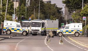 Police at the scene of a security alert on the Upper Lisburn Road on June 5th 2020 Photo by Kevin Scott for Belfast Telegraph)