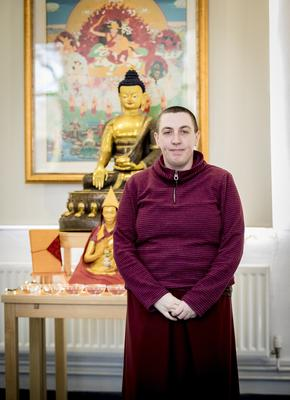 Buddhist Chitta Gen at Ormeau Park on March 4th 2020 (Photo by Kevin Scott for Belfast Telegraph)