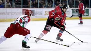 Hitting home: Belfast Giants winger Jordan Smotherman, who plays with a heart condition