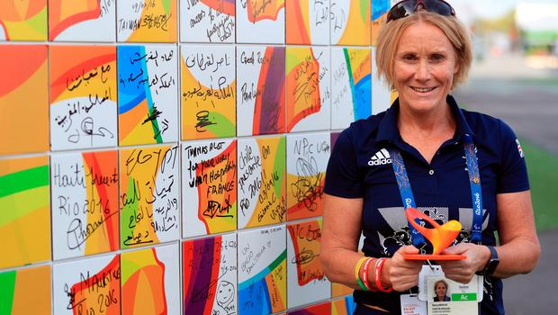 The Chef de Mission for the GB Paralympic team Penny Briscoe after the Welcome Ceremony at the Athletes Village ahead of the 2016 Rio Paralympic Games, Brazil. PRESS ASSOCIATION Photo. Picture date: Sunday September 4, 2016. Photo credit should read: Adam Davy/PA Wire. EDITORIAL USE ONLY