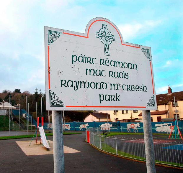 Issue: The sign at the playpark named after Raymond McCreesh