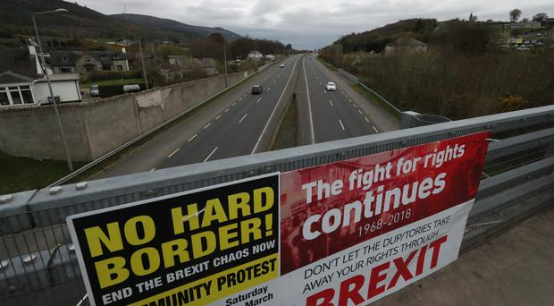 The Old Belfast Road in Carrickcarnon on the northern side of the Irish border (Niall Carson/PA)