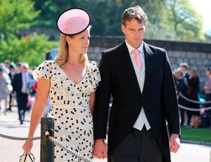 Lady Edwina Louise Grosvenor (left) and Dan Snow arrive at St George's Chapel at Windsor Castle for the wedding of Meghan Markle and Prince Harry. PRESS ASSOCIATION Photo. Picture date: Saturday May 19, 2018. See PA story ROYAL Wedding. Photo credit should read: Gareth Fuller/PA Wire