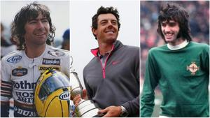Joey Dunlop, Rory McIlroy and George Best are on the podium in Steven Beacom's new book.