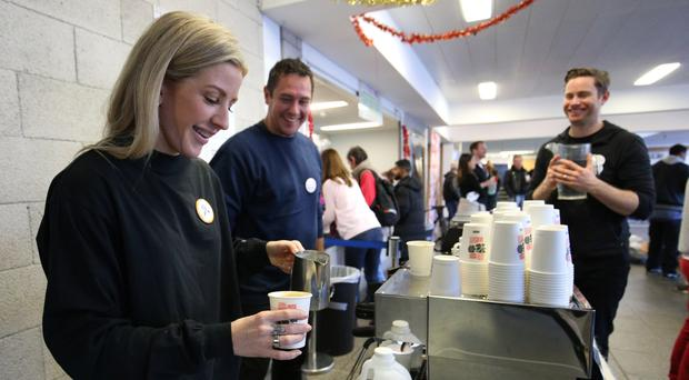 Ellie Goulding has volunteered at a Christmas homeless shelter (Jonathan Brady/PA)