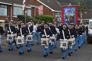 The Orange Order parade through Kilcoole Park and Kilcoole Gardens in 2018. Pic Pacemaker