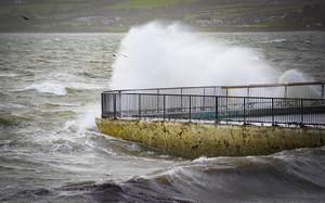 Storm Ophelia reaches the coastline of Warrenpoint on October 16th 2017 (Photo by Kevin Scott / Belfast Telegraph)