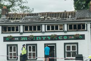 The 19th Hole Bar in Bridgend, County Donegal which was destroyed in an overnight fire. Picture Martin McKeown. Inpresspics.com.08.06.17