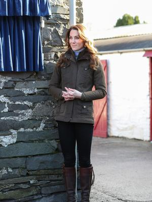 Catherine, Duchess of Cambridge during a visit to The Ark Open Farm on February 12, 2020 in Newtownards, Northern Ireland. (Photo by Chris Jackson/Getty Images)