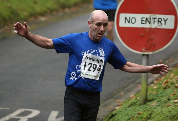 Mandatory Credit - Picture by Freddie Parkinson/Press Eye © Saturday 3rd December 2016 Belfast Telegraph Run Forest Run Loughgall. Loughgall Country Park, 11-14 Main Street, Loughgall, Armagh.  Michael Faloon