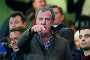 LONDON, ENGLAND - MARCH 11:  TV presenter Jeremy Clarkson attends the UEFA Champions League Round of 16, second leg match between Chelsea and Paris Saint-Germain at Stamford Bridge on March 11, 2015 in London, England.  (Photo by Paul Gilham/Getty Images)