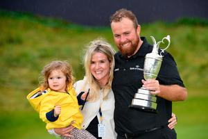 Shane Lowry with his wife Wendy