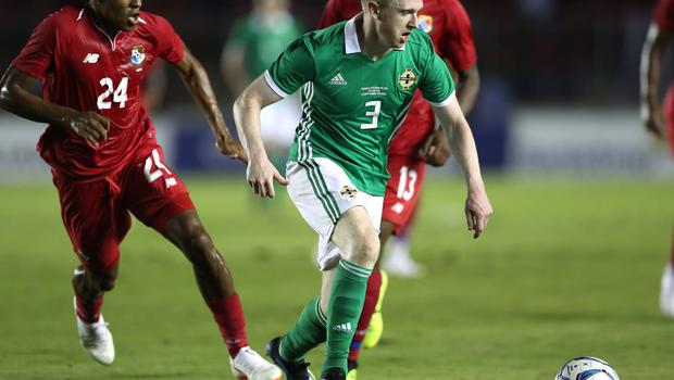 Shane Ferguson in action during Northern Ireland's tour to Central America earlier this summer.