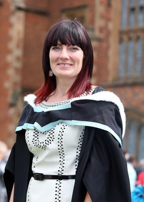 Lisa May from Portadown gratuated with a BA Hons degree in Early Childhood Studies from Queen's University. After graduation she plans to continue as a Manger of First Step Junior Nursery in Portadown.